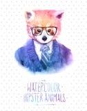 Illustration de vecteur de portrait de panda rouge dedans Photos stock