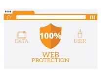 Illustration de vecteur de protection de Web Image stock