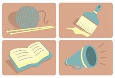 Actions/manières de l'expression Illustration Libre de Droits