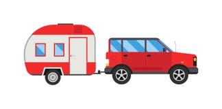 Illustration de vecteur de remorque de jeep Photo libre de droits