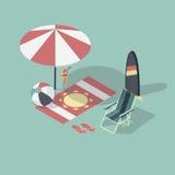 Illustration de vecteur de scène vide de plage illustration stock