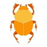 Illustration de vecteur de scarabée de scarabée de l'Egypte Scarabée sur le fond blanc Vecteur de scarabée de scarabée Illustrati Photos libres de droits