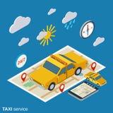 Illustration de vecteur de service de taxi illustration libre de droits