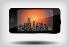 Illustration de vecteur de silhouette de villes. ENV 10. Photographie stock libre de droits