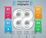 Illustration de vecteur de style d'origami d'Infographics d'affaires Photos stock
