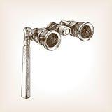 Illustration de vecteur de style de croquis en verre d'opéra illustration stock