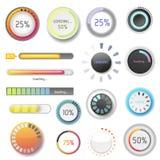 Illustration de vecteur de téléchargement de dossier d'interface de calibre de web design d'ui-UX de progrès de téléchargement d' Photographie stock libre de droits