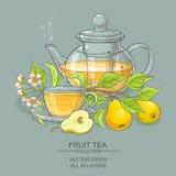 Illustration de vecteur de thé de poire Image stock