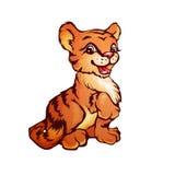 Illustration de vecteur de tigre dans le style de bande dessinée Image libre de droits