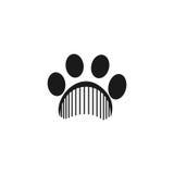 Illustration de vecteur de toilettage d'animal familier Image libre de droits
