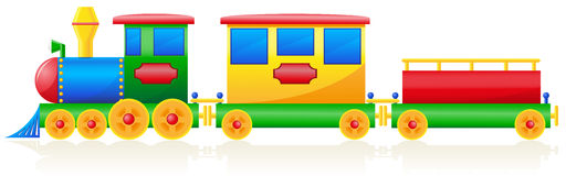Illustration de vecteur de train d'enfants Images stock