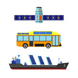 Illustration de vecteur de transport d'énergie de Sun Photos stock