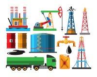 Illustration de vecteur de transport d'extraction de l'huile illustration stock