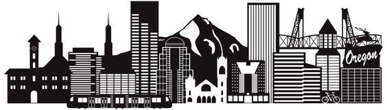 Illustration de vecteur de transport d'horizon de Portland Orégon illustration stock