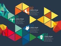 Illustration de vecteur de triangle colorée illustration stock