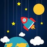 Illustration de vecteur de vaisseau spatial illustration de vecteur