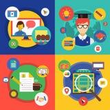Illustration de vecteur de Webinar École en ligne illustration stock