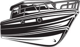 Illustration de vecteur de yacht Photo libre de droits