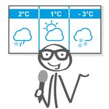 Illustration de vecteur des actualités d'hiver de temps illustration de vecteur