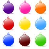 illustration de vecteur des ampoules d'arbre de Noël Image stock