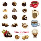 Illustration de vecteur des bonbons au chocolat délicieux Photos libres de droits