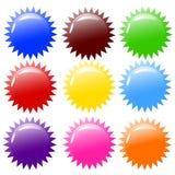 Illustration de vecteur des boutons colorés brillants. Photographie stock
