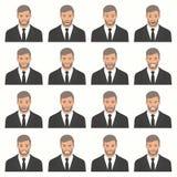 Illustration de vecteur des expressions d'un visage Images stock