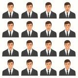 Illustration de vecteur des expressions d'un visage Image libre de droits