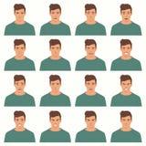Illustration de vecteur des expressions d'un visage Photos stock