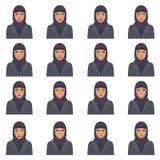 Illustration de vecteur des expressions d'un visage de l'arabe Image libre de droits