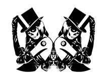 Illustration de vecteur des filles de Sugar Skull Images stock