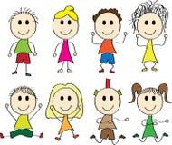 Illustration de vecteur des gosses heureux Image stock