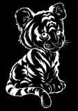 Illustration de vecteur des mensonges mignons de tigre de bébé illustration libre de droits
