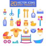 Illustration de vecteur des produits de bébé Illustration Stock