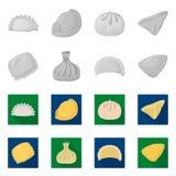 Illustration de vecteur des produits et du logo de cuisson Placez des produits et du symbole boursier d'apéritif pour le Web illustration de vecteur