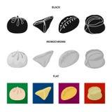 Illustration de vecteur des produits et du signe de cuisson Placez des produits et du symbole boursier d'apéritif pour le Web illustration stock