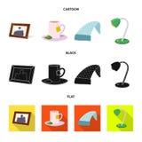Illustration de vecteur des rêves et de l'icône de nuit Ensemble de rêves et de symbole boursier de chambre à coucher pour le Web illustration libre de droits