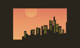 Illustration de vecteur des silhouettes beacutiful de ville Images libres de droits