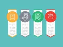 Illustration de vecteur des textes d'ensemble d'éléments d'Infographic illustration de vecteur