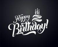 Illustration de vecteur des textes de lettrage de joyeux anniversaire Design de carte de salutation d'anniversaire illustration stock