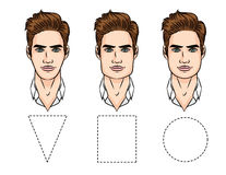 Illustration de vecteur des types de visage illustration stock
