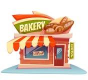 Illustration de vecteur du bâtiment de boulangerie avec lumineux Image stock
