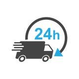 Illustration de vecteur du camion de livraison 24h 24 heures jeûnent la livraison s illustration libre de droits