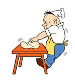 Illustration de vecteur du cuisinier Images stock