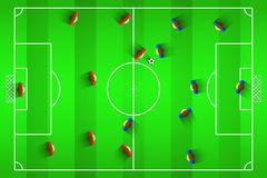 Illustration de vecteur du football Photos stock