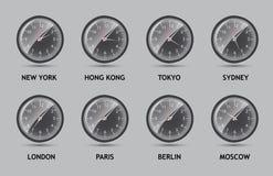 Illustration de vecteur du monde de fuseau horaire Photographie stock libre de droits