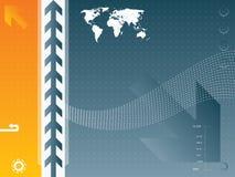 Illustration de vecteur et carte du monde illustration libre de droits