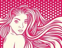 Illustration de vecteur de fille de beauté illustration libre de droits