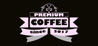 Illustration de vecteur Fond de la meilleure qualité de typographie de collection de café de qualité depuis 2017 illustration stock