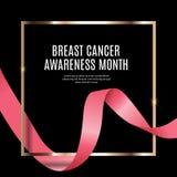 Illustration de vecteur de fond de ruban de rose de mois de conscience de cancer du sein illustration de vecteur